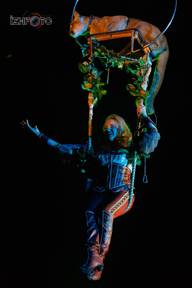 Выступление цирке Инди Ра