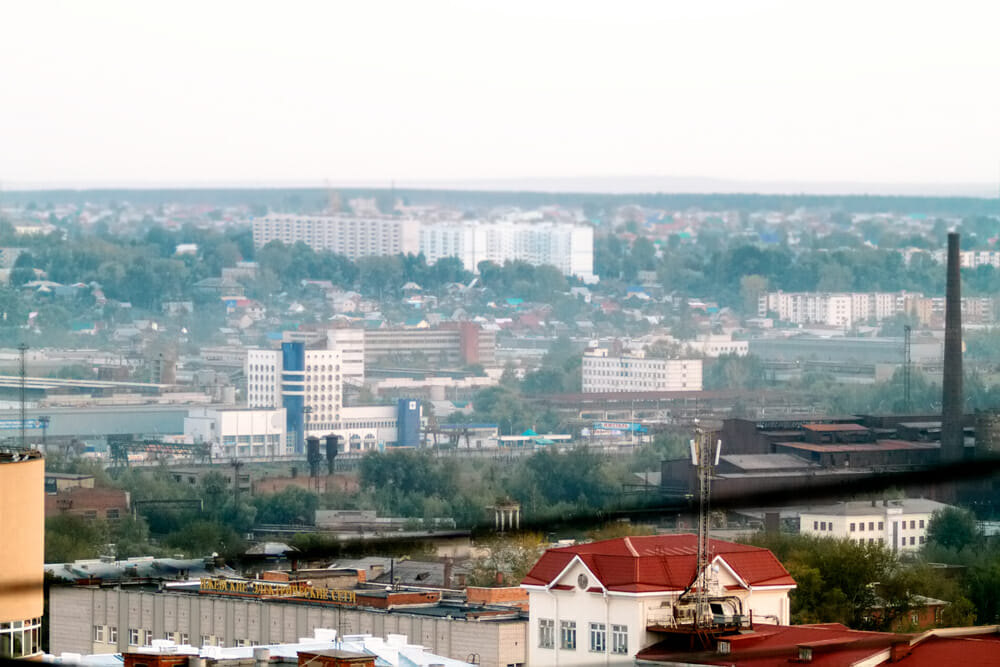Район Зарека, Ижевск. Панорама