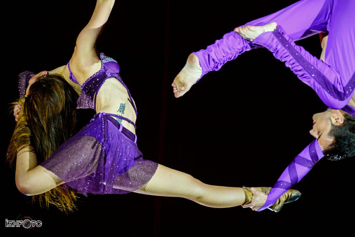Выступление Дуэта Кратос на воздушных ремнях в Ижевском Цирке