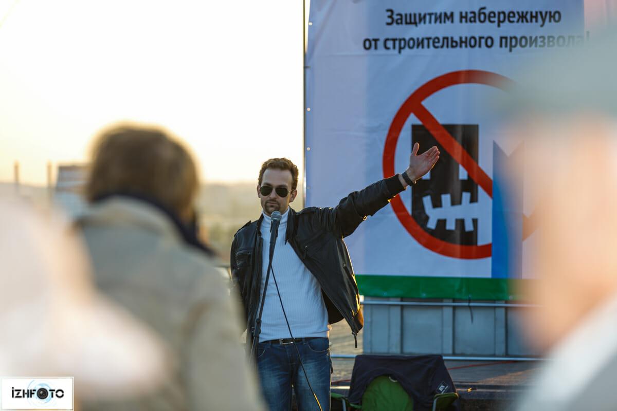 Организатор и идейный вдохновитель митинга - Александр Смакотин, Ижевск