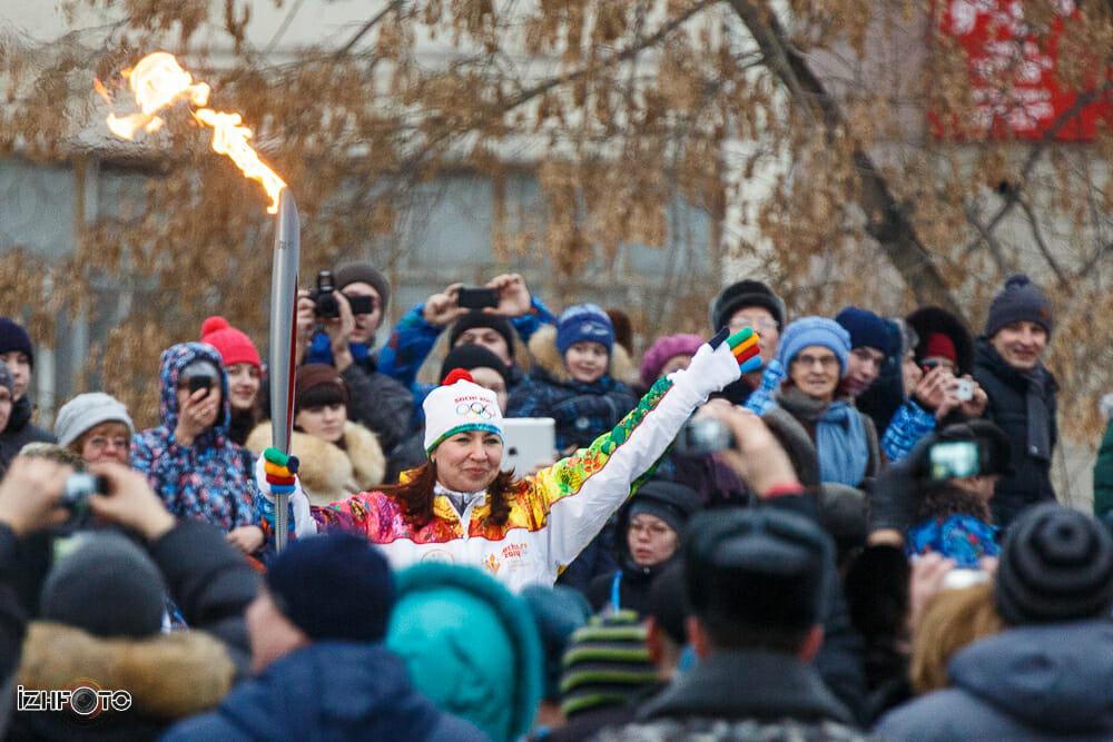 Олимпийский Огонь в Ижевске Фото