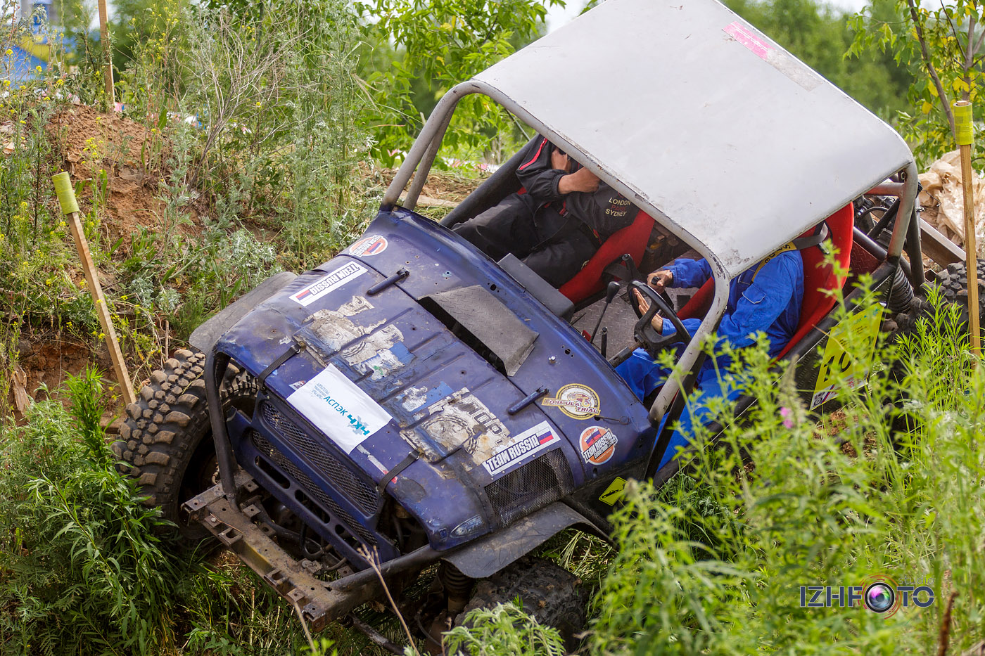 Джип-триал – автомобильное соревнование, проходящее на закрытой с искусственными или естественными препятствиями трассе