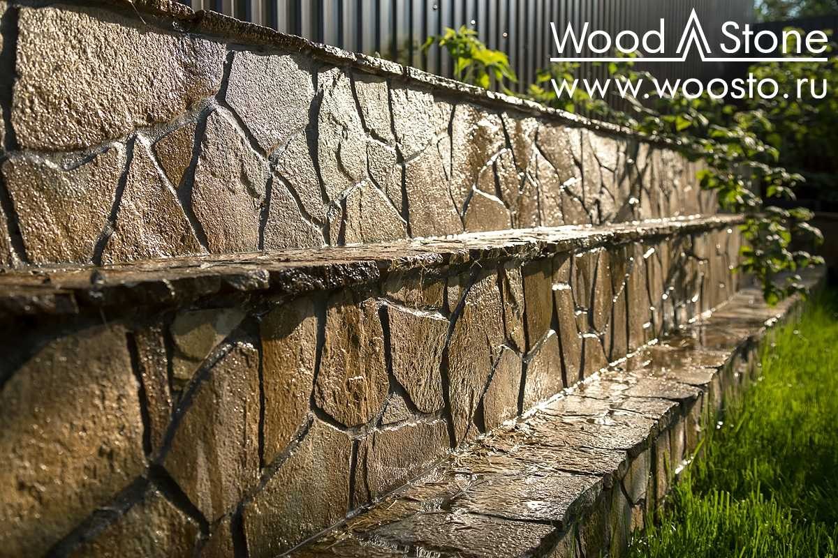 Облицовка подпорных стенок натуральным камнем