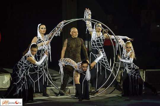 Номер Гимнасты в рейнском колесе, Парад звезд