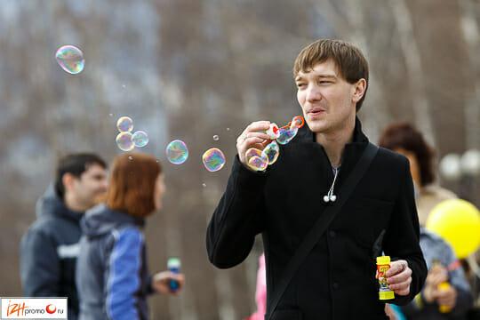 Мыльные пузыри в Ижевске