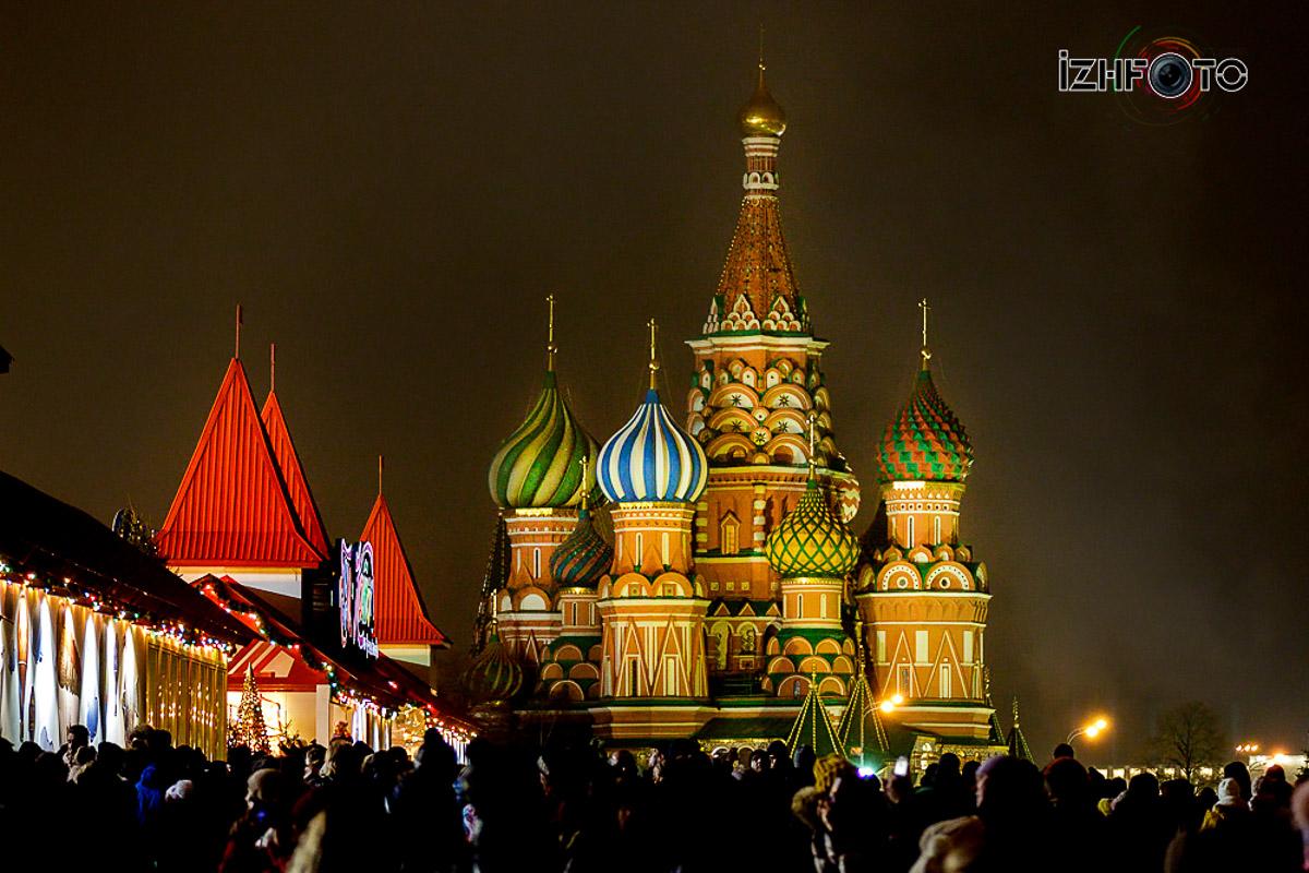 Москва Красная площадь Новый год