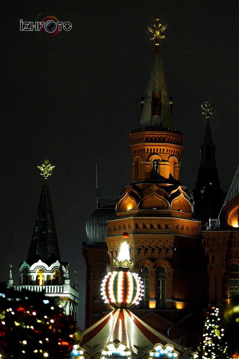 Красная площадь на Новый год 2018 фото