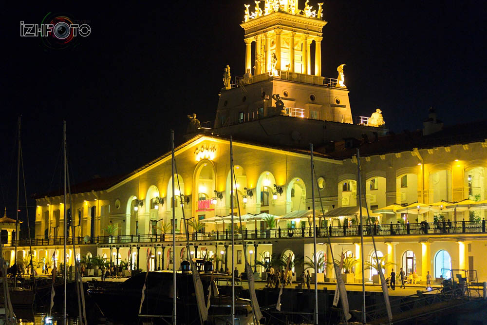 Морской порт Сочи ночь Фото