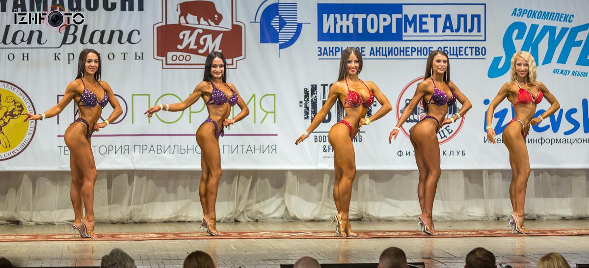 Фото сравнительного позирования в фитнес бикини