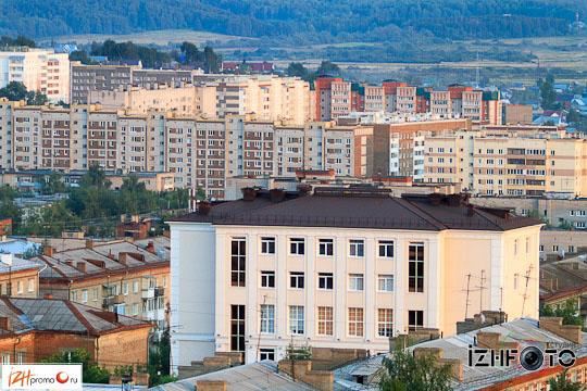 Фото Ижевска с крыши