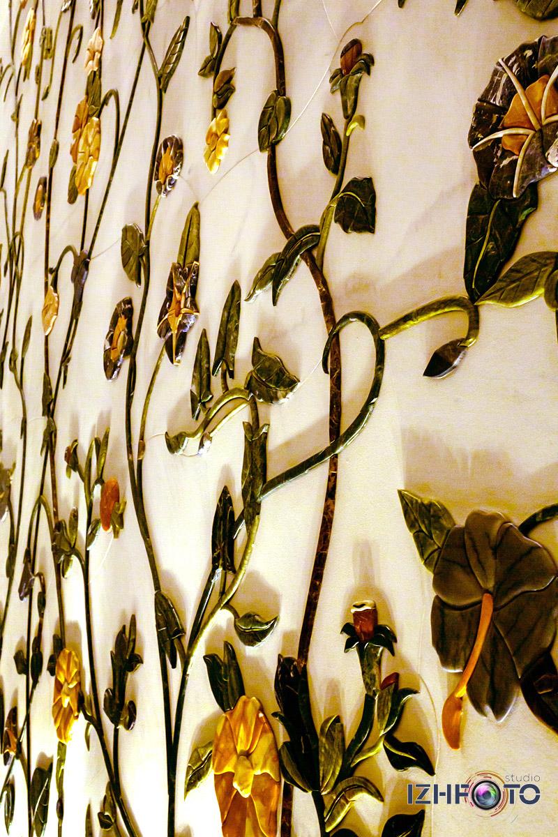 Фото интерьеров белой мечети в Абу-Даби Фото