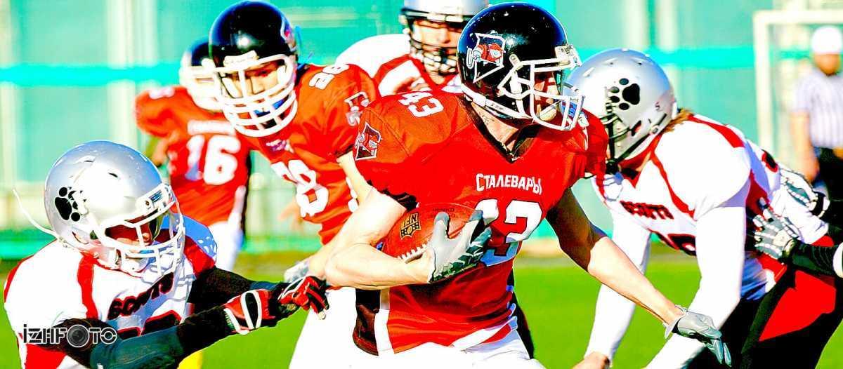 Тренировки по американскому футболу в Ижевске