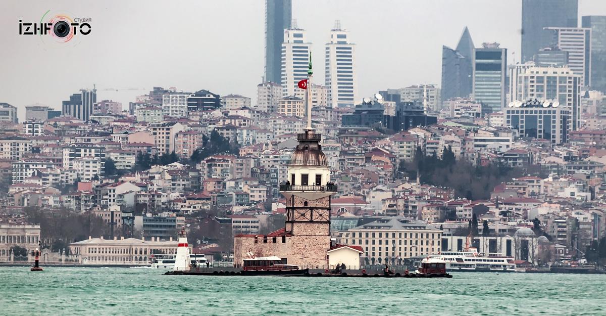 Девичьей Башни Kız Kulesi Стамбуле район Ускюдар Фото