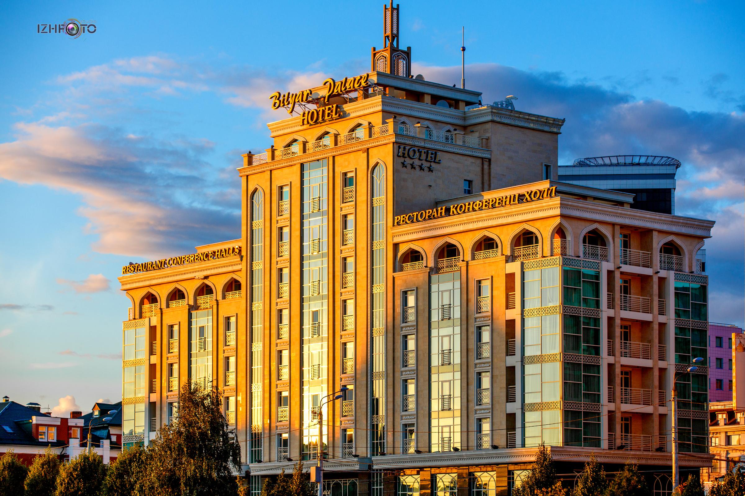 Фото Bilyar Palace Hotel Kazan на закате