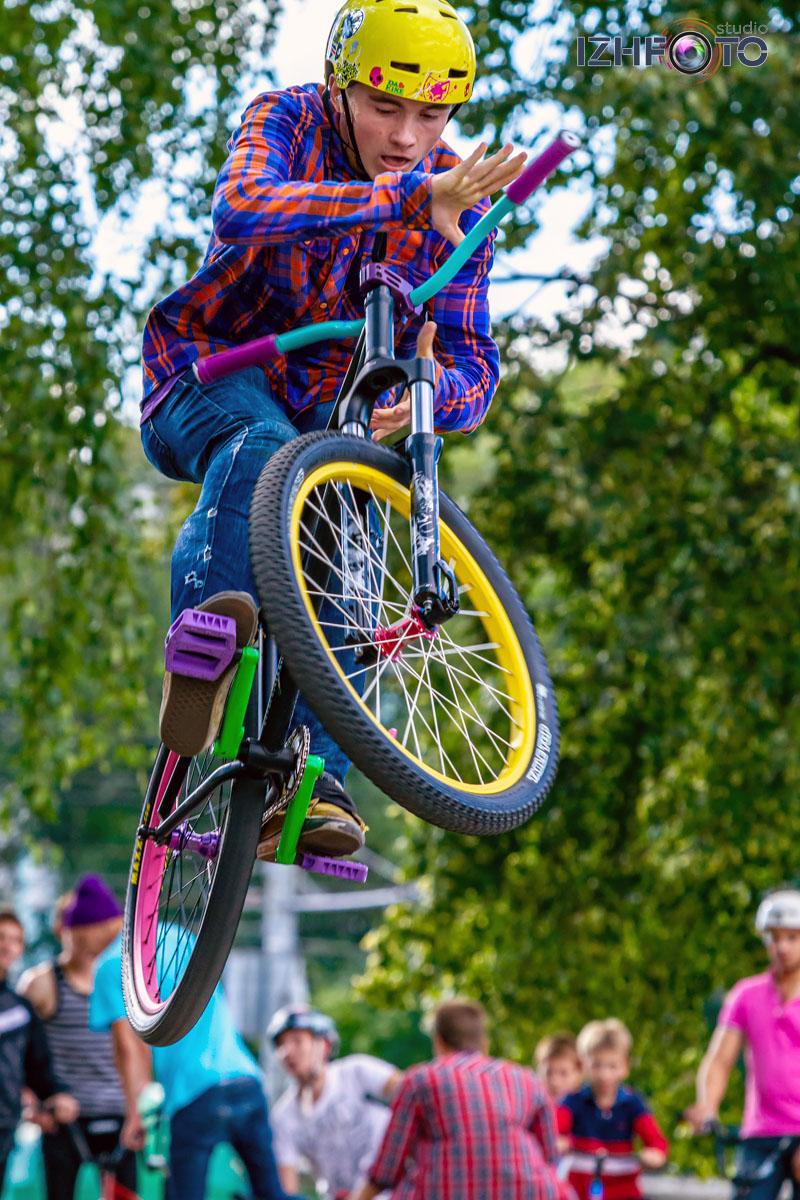 Трюки на горных велосипедах