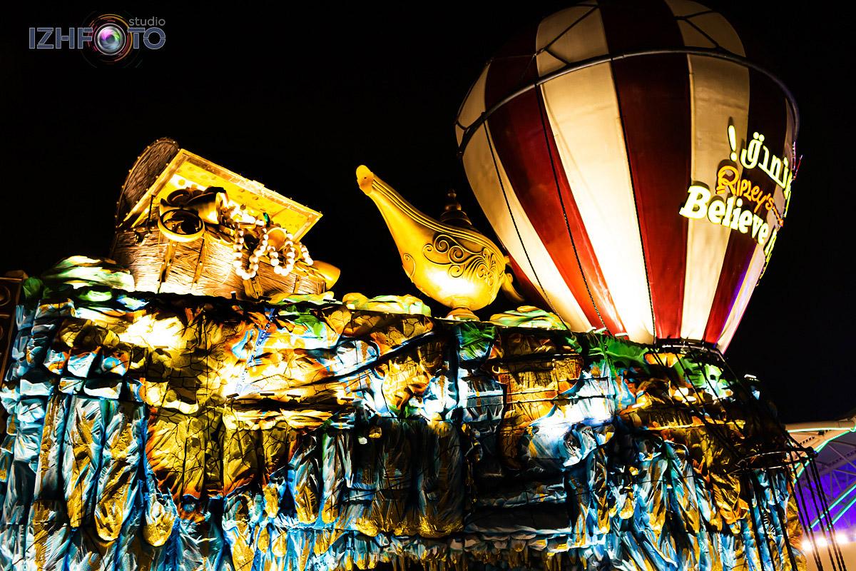 Аттракционы Carnival Глобал Вилладж в Дубае
