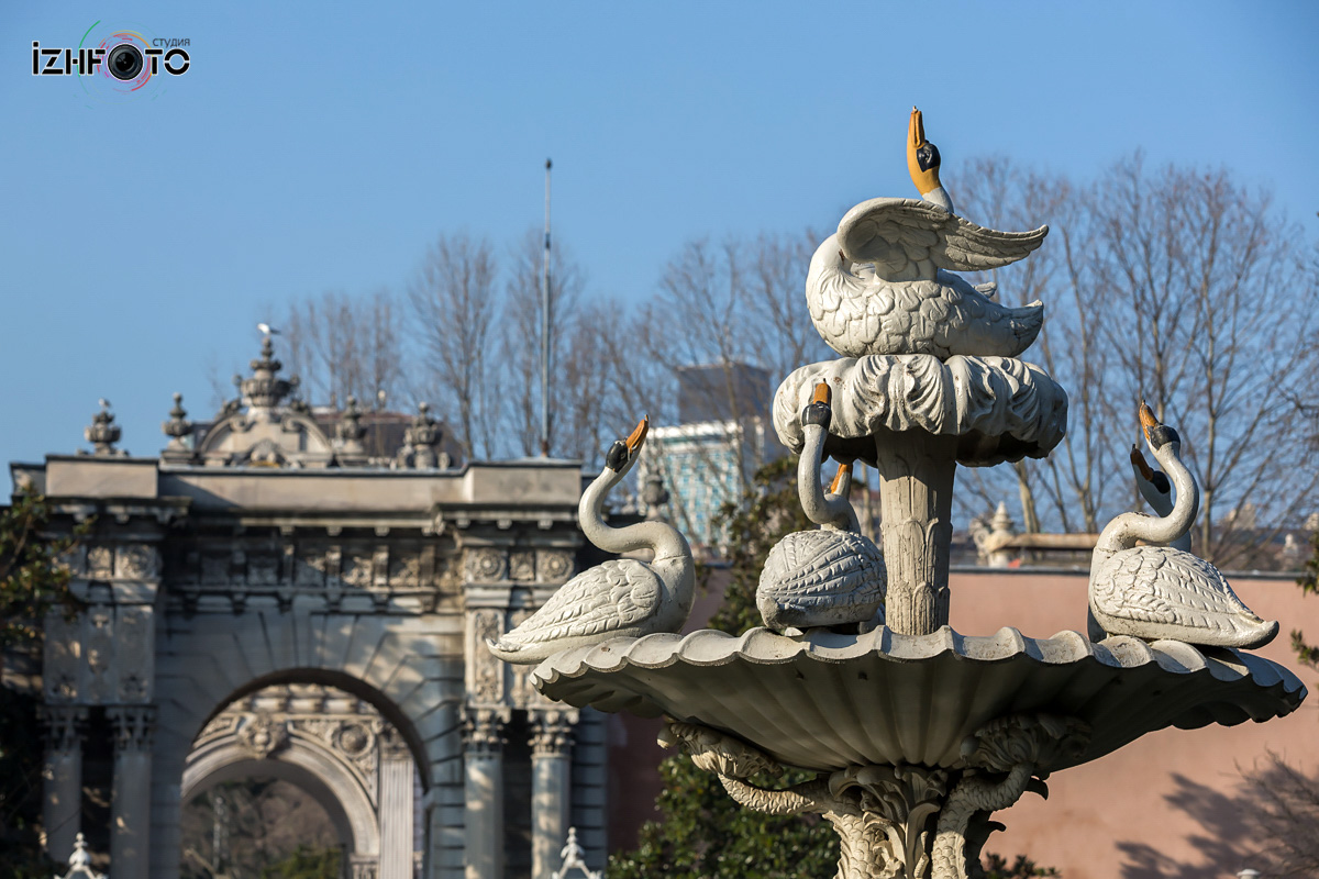 Лебединый фонтан Долмабахче Фото