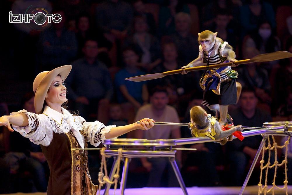 Funny monkeys trainer Vildan Yakubov Russia