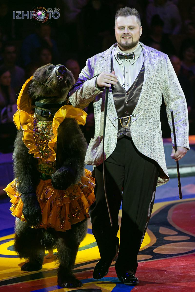 Дрессированные медведи цирк Филатовых