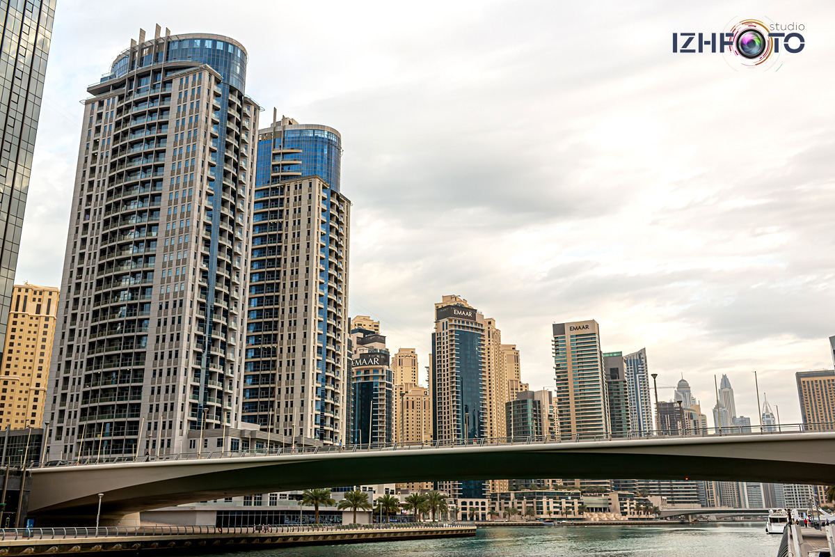 Фотографии Дубай Марина утром