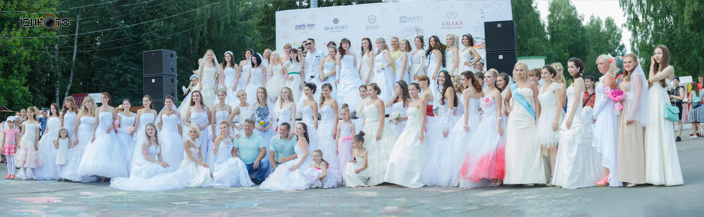 Общее фото участниц Марафона невест 2016 в Ижевске