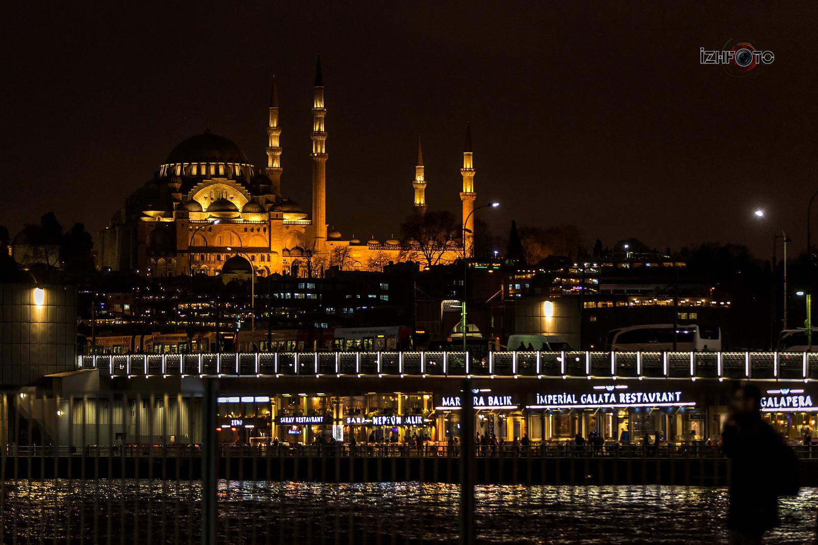 Ночной Стамбул Фото