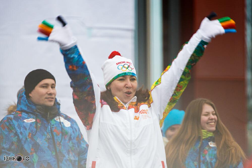 Олимпийский огонь в Ижевске