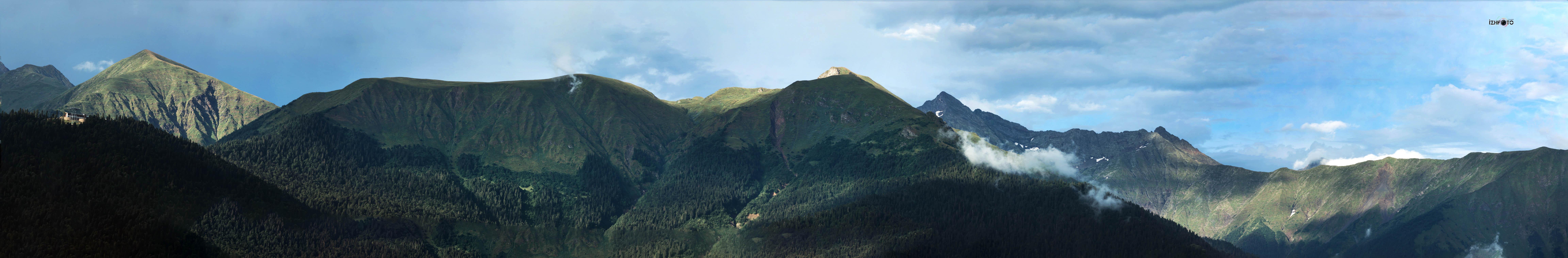 Панорамы  гор Розы хутор Сочи