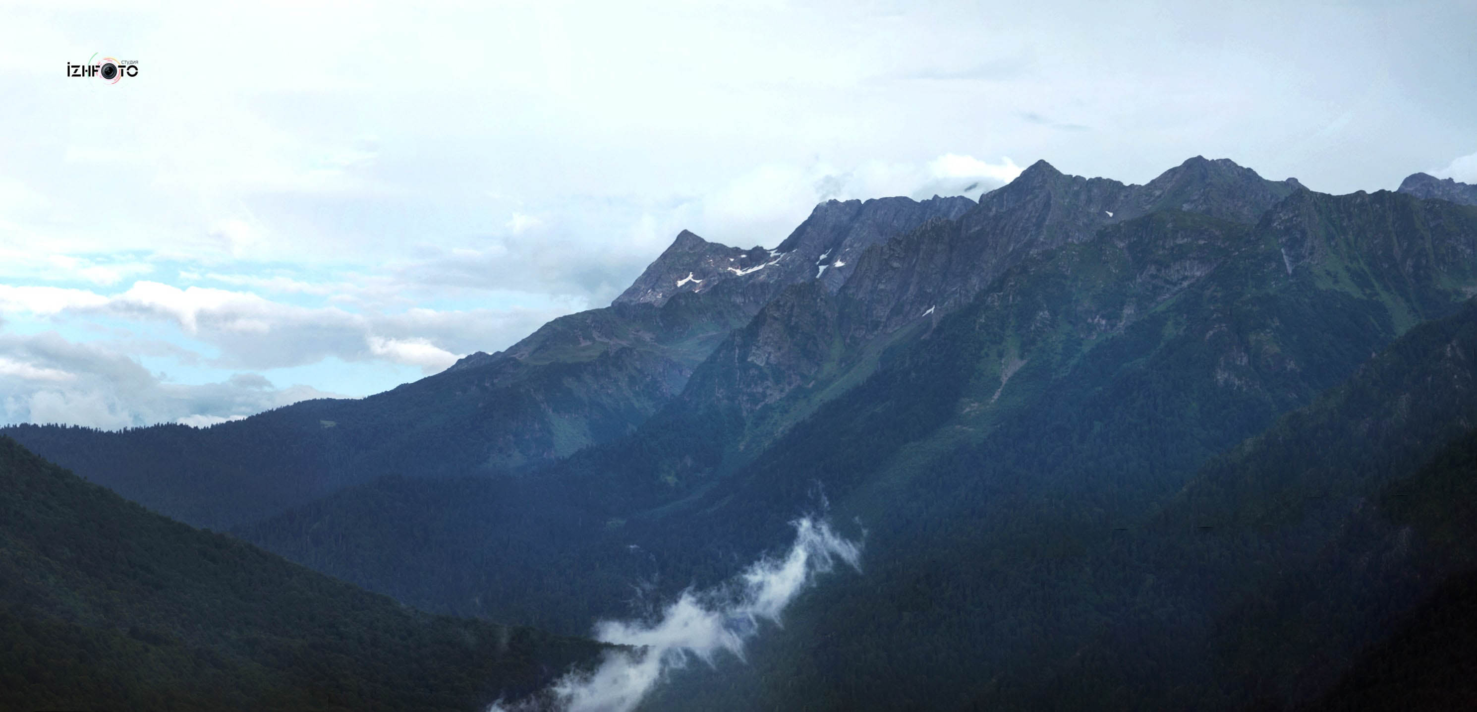 Панорамы  гор Красная поляна Сочи