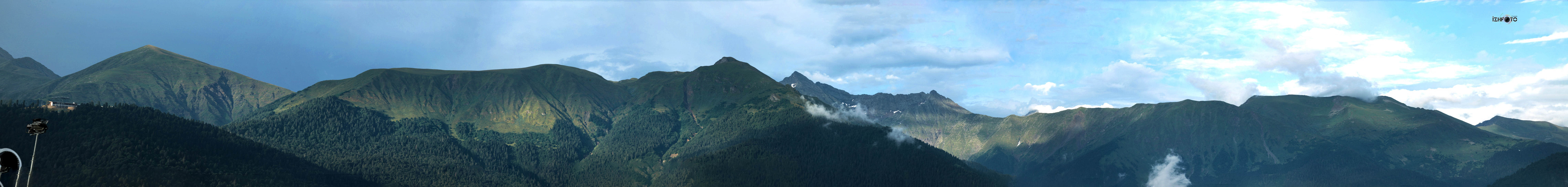 Панорамы  горной олимпийской деревни Сочи