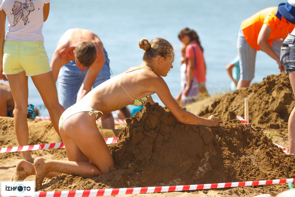 фигуры из песка фото