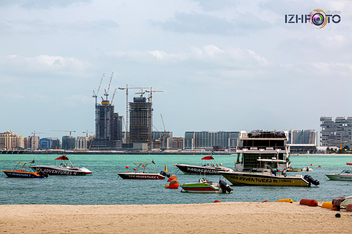 Фото пляжа Марина в Дубае утром