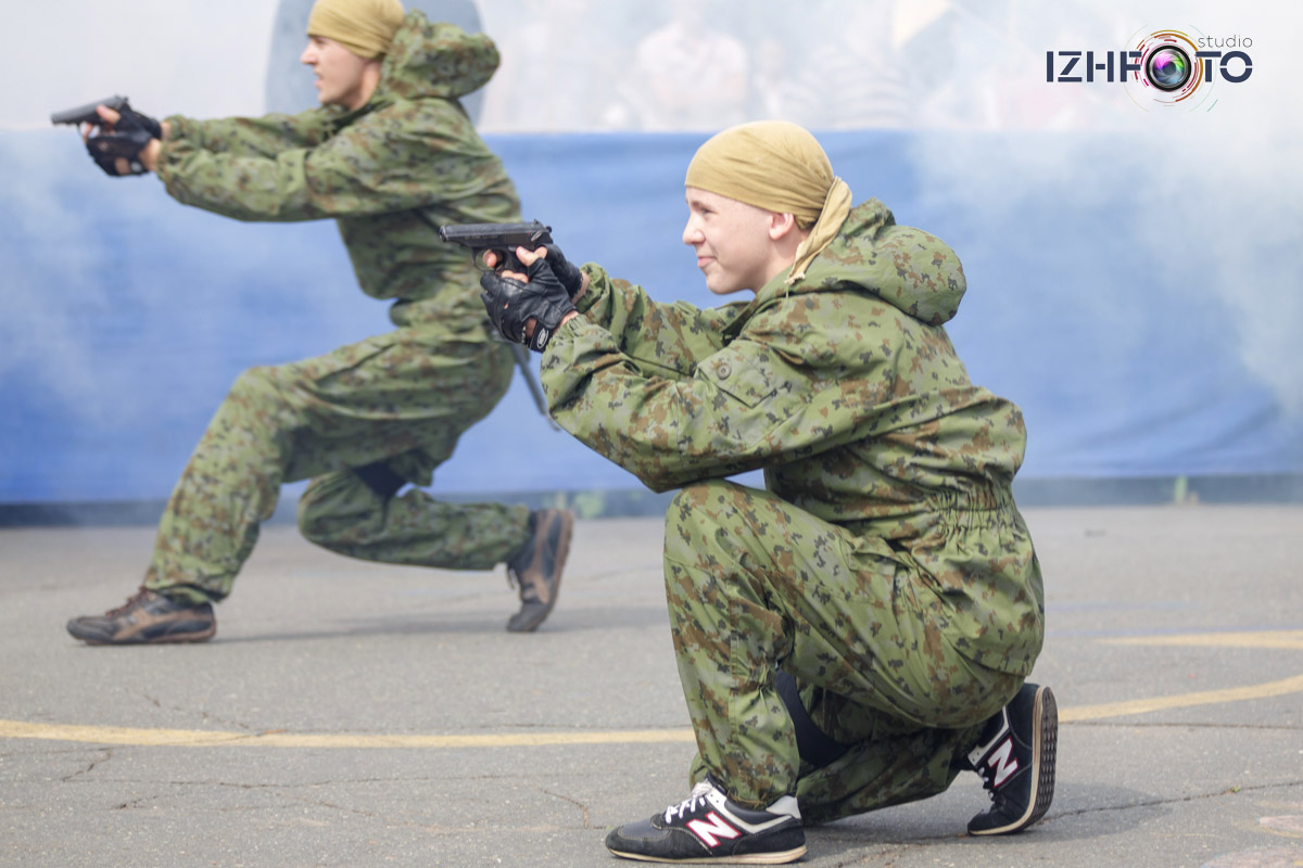 выступление военно-патриотического центра Росич (Ижевск)