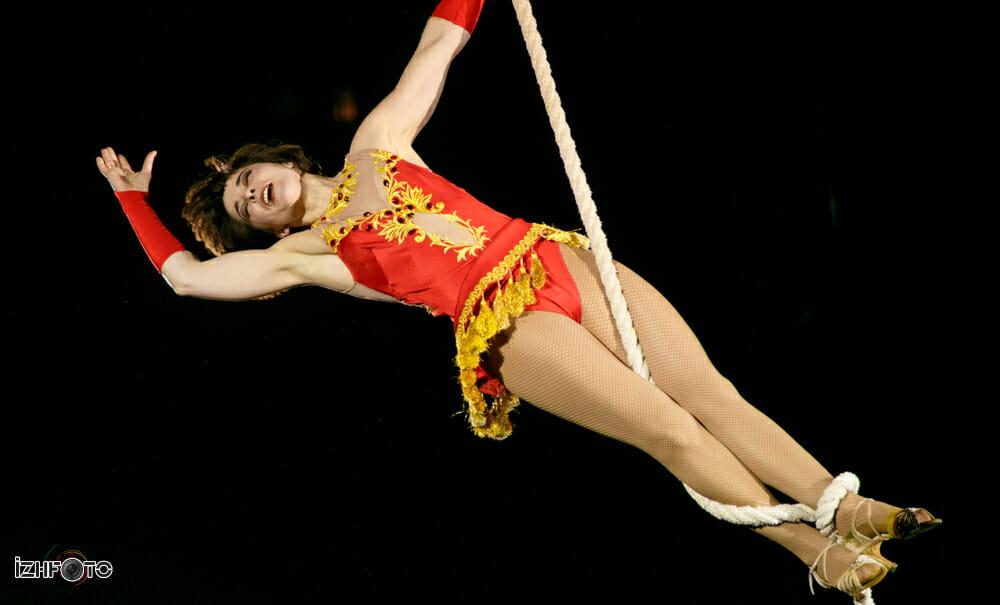 Милена Сидоренко на фестивале циркового искусства