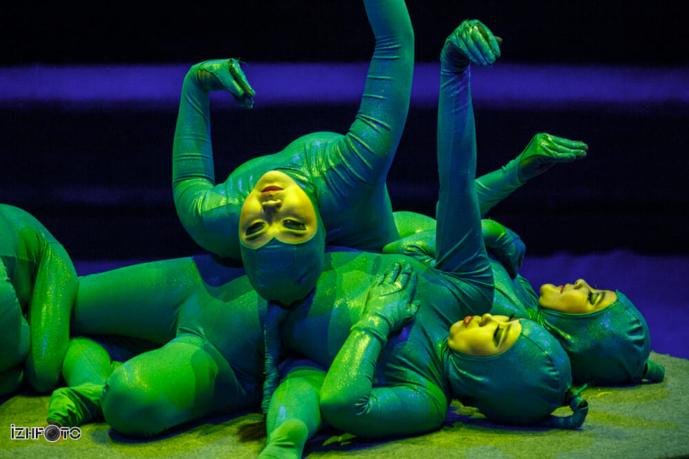 Змейки на фестивале циркового искусства