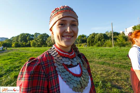 Участница фольклорного коллектива «Чебеляй»