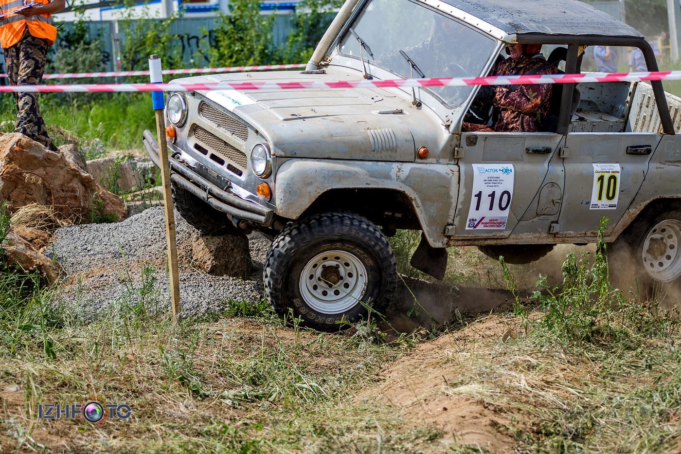 Соревнования по авто-триалу в Ижевске