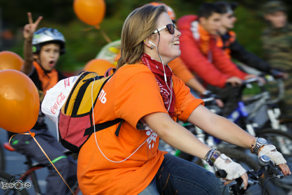 Открытие велодорожки в Ижвеске