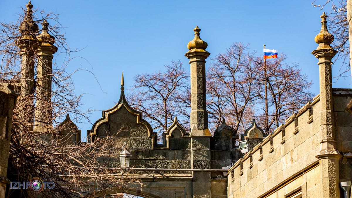 Воронцовский дворец и парк в Алупке Крым Фото