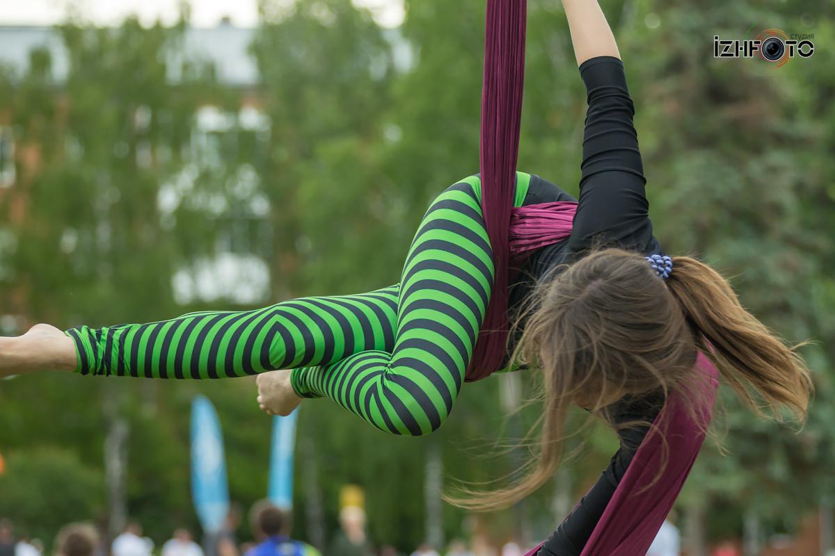 Фотографии воздушной акробатики на полотнах