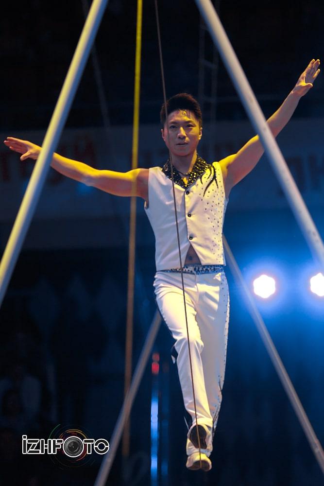 Выступления  свободной проволоке в Цирке