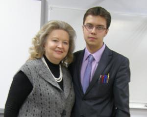 Константин Митрошин и Людмила Германовна Погодина, директор гимназии №24